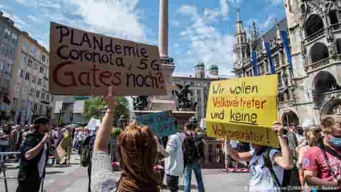 Europe Antilockdown Protest
