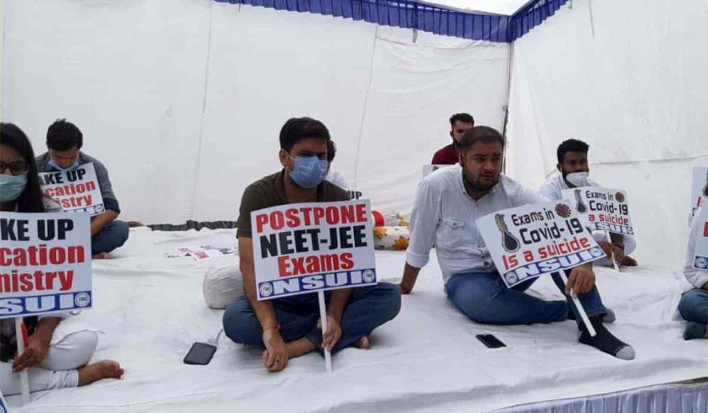 Congress Protests for Postponing JEE - NEET