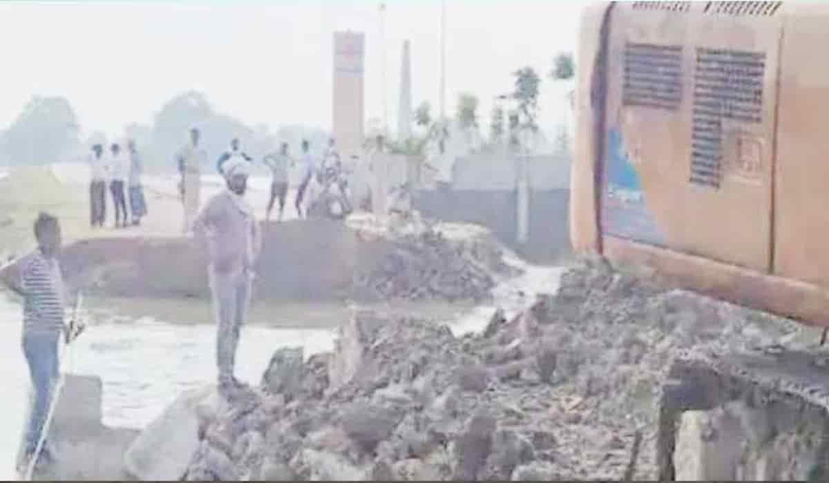Bangra Ghat Mahasetu Approach Road Collapses Hours Before Inauguration
