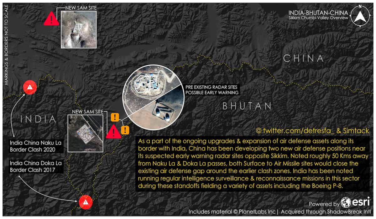China Constructing Missile Sites in Doklam and Nathula