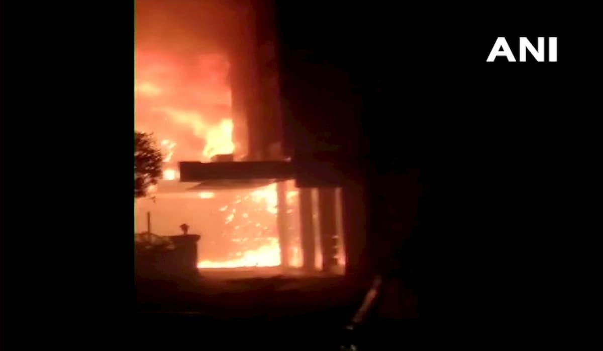Vijaywada hotel catches fire