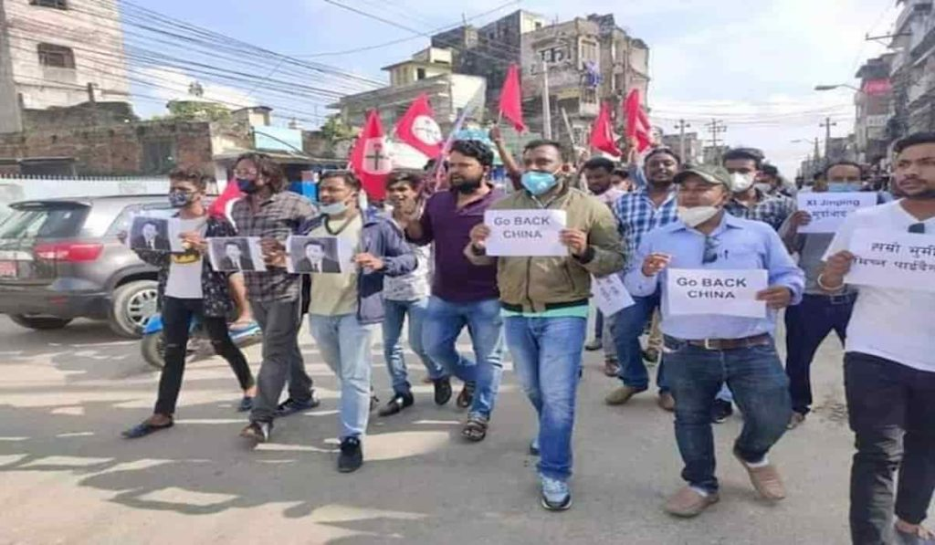 Nepal students protest against Chinese Acquisition