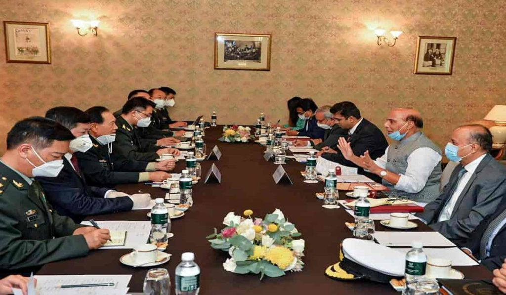 Restore Status Quo on Ladakh : Rajnath to Chinese Counterpart