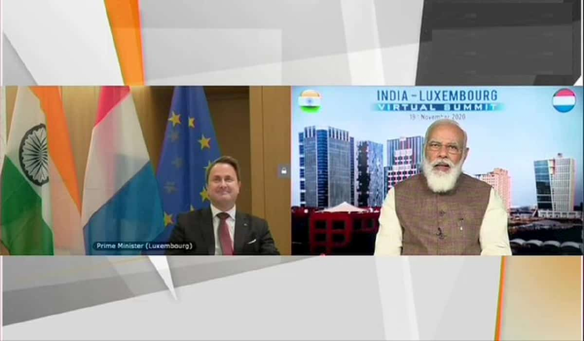 India - Luxembourg Virtual Summit