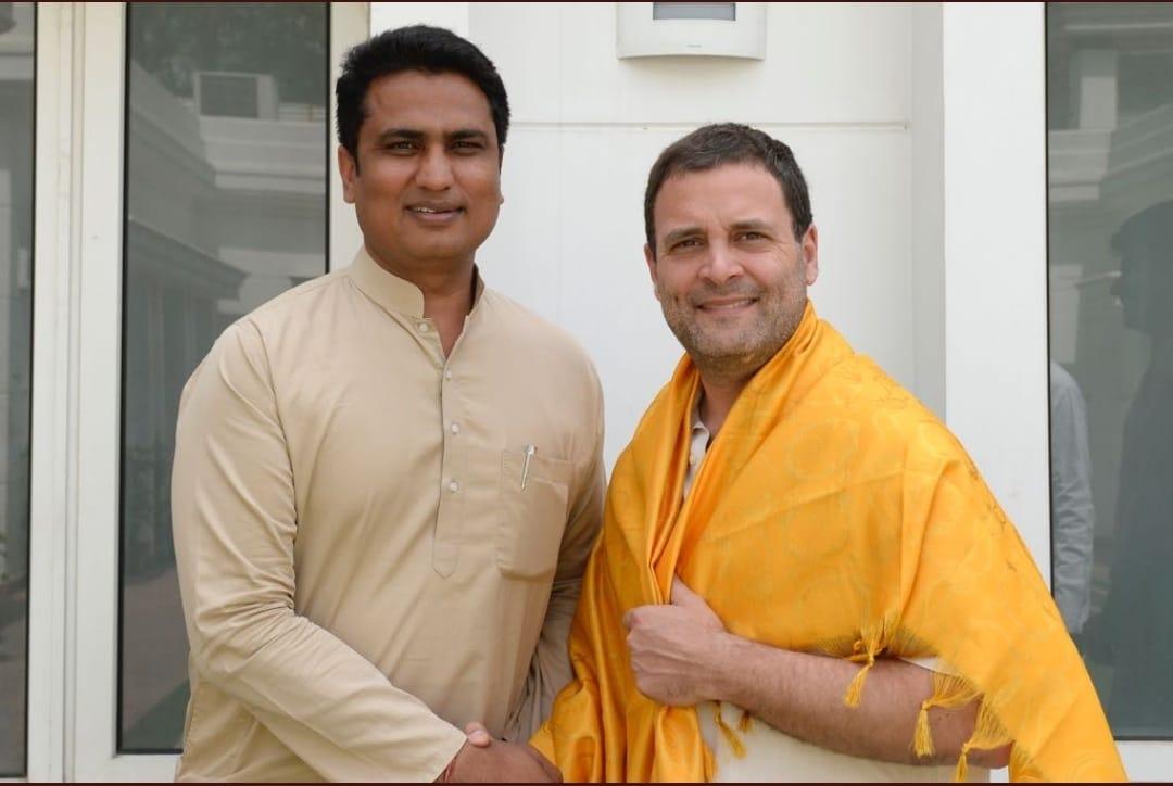Anil Chowdhury with Rahul Gandhi