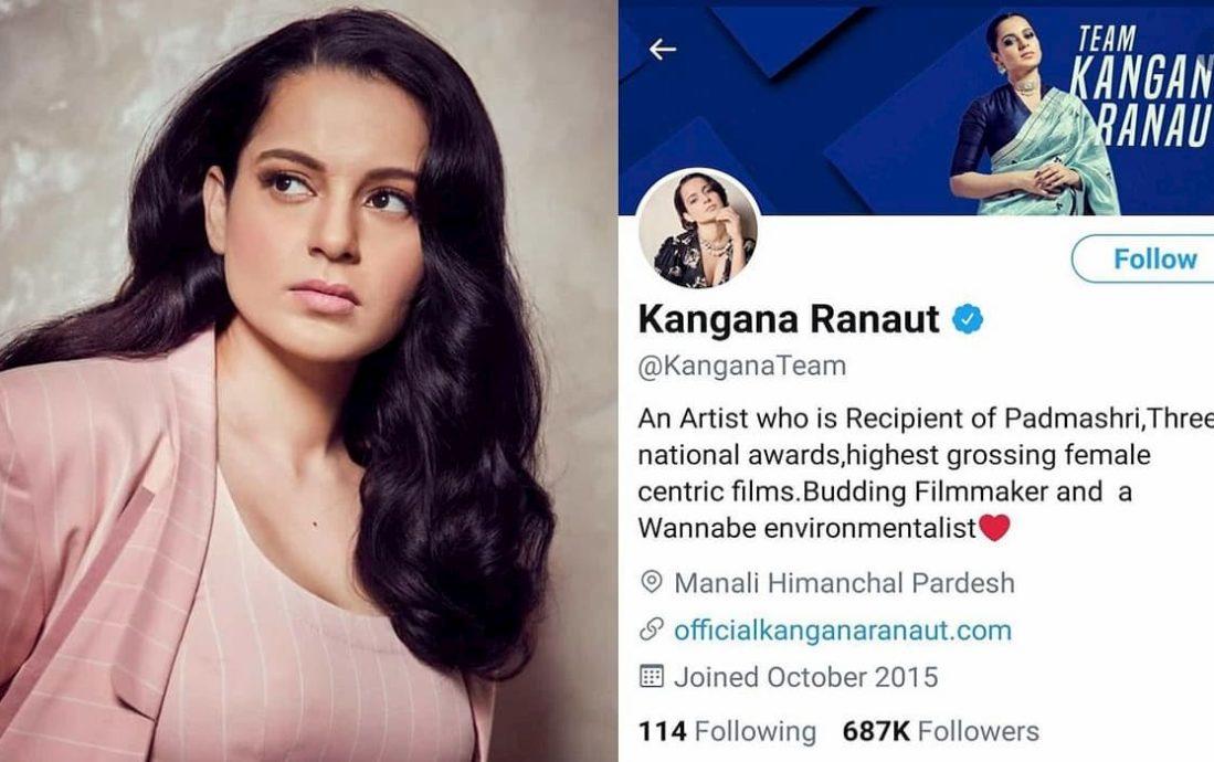 Kangana Ranaut Twitter Account Temporarily Suspended