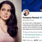 Kangana Ranaut Twitter Account Temporarily Suspended