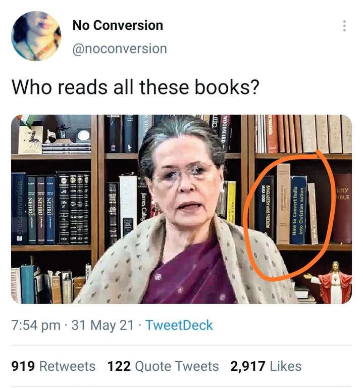 Fake Image of Sonia Gandhi